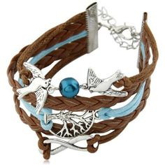 Colomba Della Pace - Multilayer Leather Charm Bracelet