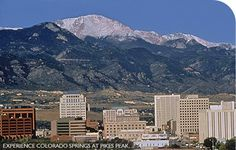 Pikes Peak, Colorado Springs, CO.lived there for about 18 months. Progressive Insurance, Living In Colorado, Pikes Peak, Spring Is Here, Travel List, Great Friends, Colorado Springs, Rocky Mountains, The Great Outdoors