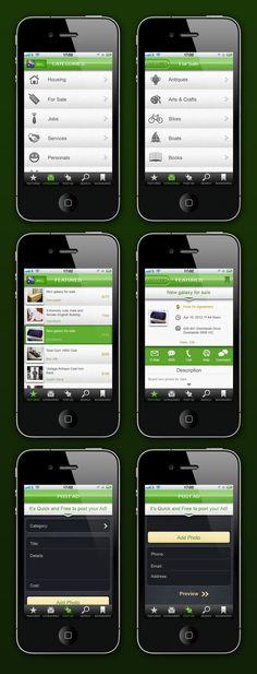 Classifieds App by Eric Liu, via Behance