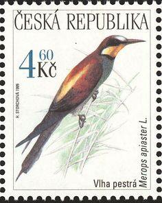 Birds on stamps: Czech Republic Tsjechie République Tchèque Chec