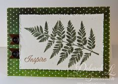 Beautiful fern from JustRite Stampers available at the Stamp Simply Ribbon Store!