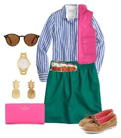 """""""What styles/trends are popular where you are?"""" by prepstepkate on Polyvore featuring J.Crew, Kate Spade, Vinca, Brooks Brothers, Sperry and Ray-Ban"""