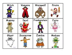 Halloween Descriptive Language Center from TheWisestOwl on TeachersNotebook.com -  - Students practice using details in this super fun center. They work with a partner by describing the monster they picked. Fun lead in to writing with detail.