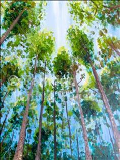 """Painting With a Twist - """"East Texas Pines"""" in Austin at Painting"""