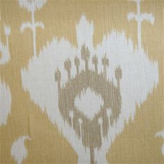 This is a beautiful ikat gold,taupe and natural cotton, made in the USA, medium weight drapery fabric, suitable for any decor int he home or officeby Magnolia.v131TEF