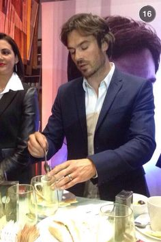 Tea Time ~ Ian Somerhalder at Promotional event for INTENSE by #AZZAROPOURHOMME in Chile (05/06/15)