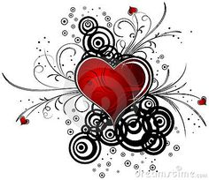 Abstract Valentine design with hearts, vector by Aleksey Telnov, via Dreamstime