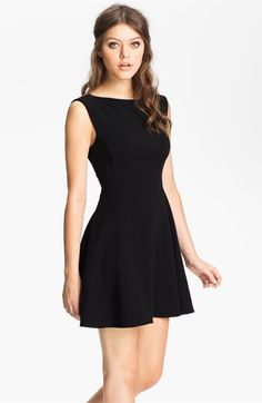 Possible NYE dress.   French Connection Extended Sleeve Ponte Fit & Flare Dress available at #Nordstrom