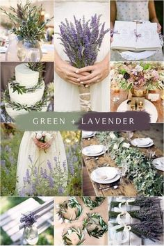 Lavender Wedding Colors, Unique Wedding Colors, Sage Green Wedding, Lilac Wedding, Wedding Flowers, Summer Wedding, Lavender Weddings, Green Weddings, Wedding Colors For August