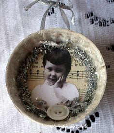 Christmas Morning Vintage Mold Ornament
