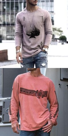 Men long sleeves shirts for summer or fall, printed and plus size design, easy to online shipping, free shipping on an order $59. #men #shirts #fashion #summer #tops Online Shipping, Free Shipping, Men Shirts, Summer Tops, Long Sleeve Shirts, Shop Now, Graphic Sweatshirt, Plus Size, Mens Fashion