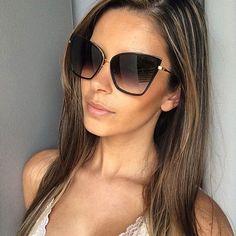 2016 GUVIVI New Fashion Women Sunglasses Cat Mirror Glasses Metal Cat Eye Sunglasses Women Brand Designer Square Style GY-97143