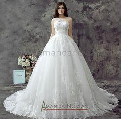 nova chegada 2014 clássico vestido de rendas ball um vestido de noiva ombro fotos reais vestido de renda