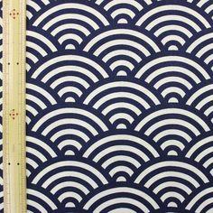 日本伝統文様 青海波文様 紺 【布地 生地 和柄】【RS1】【M】【楽天市場】