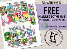 Free Printable Tokidoki Planner Stickers from Victoria Thatcher