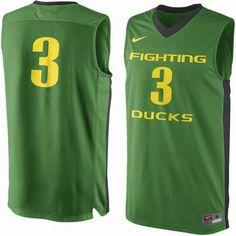 Oregon Ducks Nike #3 Replica Master Jersey - Apple Green