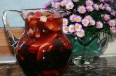 non alcohol sangria, Shiva minim, tu bishvat, sangria, tropical sangria,