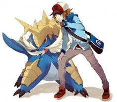 Samurott and Hilbert/Black by Welchino
