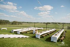 a farm wedding outdoors. see more wedding ideas at normanyu.com