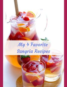 My 4 Favorite Sangria Recipes The 3 basic ingredients for Red or White Bottle, 750 ml, of inexpensive Red or White cups of cups of Chilled SpriteCombine all the above ing… Strawberry Sangria, Strawberry Recipes, Entree Recipes, Appetizer Recipes, Night Dinner Recipes, Sangria Recipes, Cheap Wine, Wine Delivery, Quick Recipes