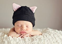 Fleece Hat Pattern for Baby and Children - PDF Sewing Pattern - DIY Bear Bunny Cat Cow Monster Devil