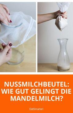 Nussmilchbeutel getestet: Wie gut gelingt die Mandelmilch?