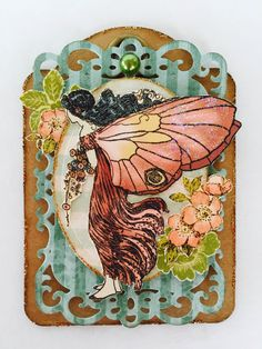 Graphic 45 Once Upon A Springtime ATCs Tutorial by Maria Cole.