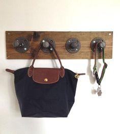 Reclaimed Wood & Pipe Coat Rack.