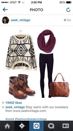 Cute winter fashion outfit