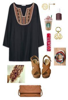 """""""sorry I haven't been posting! I'm going to take a break from polyvore for a couple of days!"""" by gabbbsss ❤ liked on Polyvore featuring moda, MANGO, Tory Burch ve Essie"""