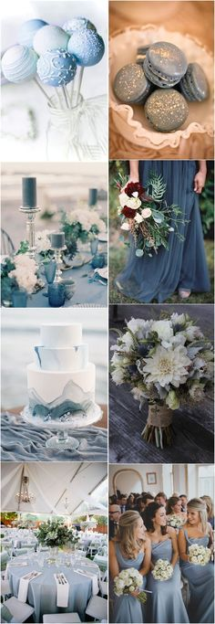 2018 Wedding Inspiration Dusty Blue Color Ideas