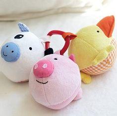 美国原单 Pottery Barn Kids 圆嘟嘟农场小动物 婴儿玩具 3只一组-淘宝网
