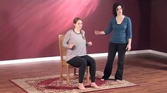 """Here's a short """"chair yoga"""" practice to boost your energy and get your blood and joints moving at work, at home, or wherever you're short on time, space, or yoga accessories. All you need is a chair."""