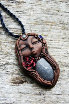 Rose Goddess Necklace symbolic of deep love by TRaewyn on Etsy