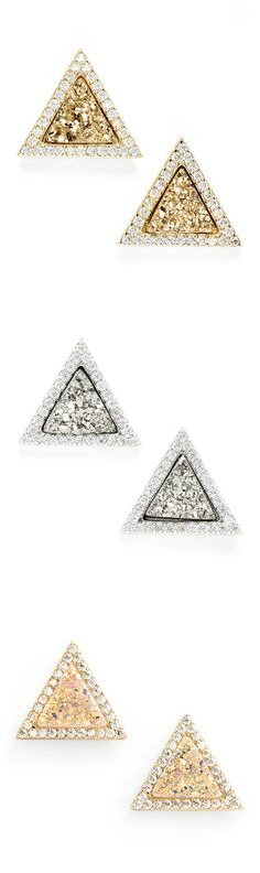 Obsessed with the sugary shimmer of these wear-anywhere stud earrings.