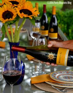 Sunset and Steaks Dinner Party Tips and Recipes with Mirrasou Wine