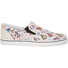 Pre-owned Sophia Webster Unicorn Slip-on Sneaker Multi Athletic Shoes (325 CAD) ❤ liked on Polyvore featuring shoes, sneakers, multi, slip-on sneakers, satin shoes, round cap, slip on trainers and skate shoes