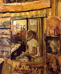 Edouard Vuillard - Self-portrait in the dressing room mirror