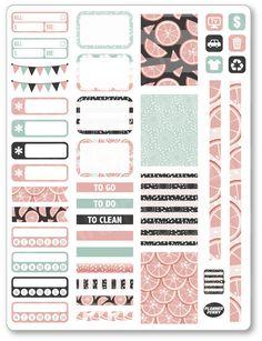 Polka Dots Weekly Kit Planner Stickers Simple Weekly Kit Functional Weekly Kit Planner Stickers Bright Weekly Kit
