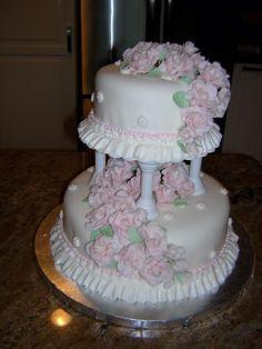 Rose Tiered Cake
