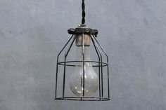 Industrial Open Cage Hanging Pendants : Factory 20