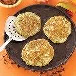 Pea Pancakes with Bacon Recipe | MyRecipes.com