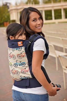 The Tula Toddler Carrier is designed to luxuriously and comfortably wear children 18 months and older. Sized for toddlers and preschoolers, this carrier is wide enough to support longer toddler legs, tall enough to prevent leaning, and has padded leg cutouts for your little one, which prevents the material from rubbing their skin.