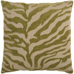 Green and beige tiger print pillow from Surya