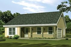 Browse nearly ready-made house plans to find your dream home today. Floor plans can be easily modified by our in-house designers. Simple Ranch House Plans, Cottage Style House Plans, Country House Design, Cottage Style Homes, Country House Plans, New House Plans, Cottage Design, Small House Plans, Simple House