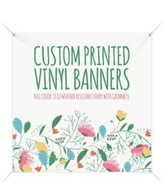 Your place to buy and sell all things handmade Custom Vinyl Banners, Handmade Shop, Etsy Handmade, Shower Banners, Vinyl Signs, Banner Printing, Invitations, Prints, Small Businesses