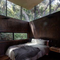 Simple Interior, Home Interior Design, Interior Architecture, Contemporary Interior, Luxury Interior, Wooden Panelling, Peaceful Bedroom, Bali Bedroom, Casas Containers