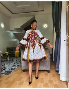 Latest African Fashion Dresses, African Dresses For Women, African Print Dresses, African Print Fashion, Africa Fashion, African Attire, Ankara Fashion, African Prints, Fashion Clothes