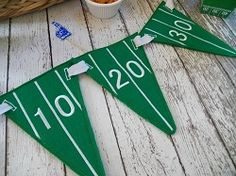 Football Field Pennants - 3 Sizes!   In the Hoop   Machine Embroidery Designs   SWAKembroidery.com
