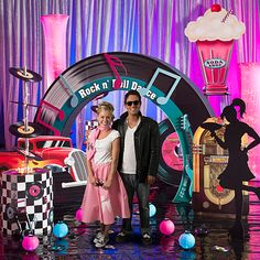 Rock around the clock with Fifties Party Props from Shindigz. Theme Party Props include theme kits and more! Order your party props today! 50s Theme Parties, 70th Birthday Parties, Grease Themed Parties, 80s Theme, Fifties Party, Retro Party, 1950s Party, Fifties Diner, Festa Pin Up